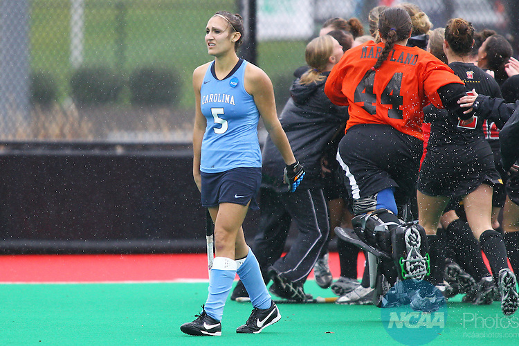 20 NOV 2011: The Division I Women's Field Hockey Championship between Maryland and North Carolina was held at Trager Stadium on the University of Louisville campus in Louisville, KY. Maryland defeated North Carolina 3-2 in overtime to win the national title. Jonathan Palmer/ NCAA Photos