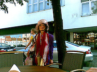 Rose (Roze) is Vilnius' most celebrated and eccentric beggar. Actually living a few kilometres from the capital, she travels almost daily into the city centre. Taken during the summer of 2007 with a Nokia E61i mobile phone.