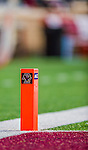 2 November 2013: Boston College Eagles corner marker is in place during a game against the Virginia Tech Hokies at Alumni Stadium in Chestnut Hill, MA. The Eagles defeated the Hokies 34-27. Mandatory Credit: Ed Wolfstein-USA TODAY Sports *** RAW (NEF) Image File Available ***