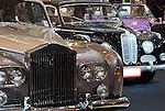 Row of Rolls Royce cars at Classic Car Show in Bangkok