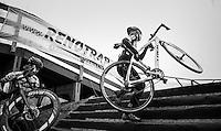 Jolien Verschueren (BEL/Telenet-Fidea) on the steps<br /> <br /> elite women's race<br /> GP Sven Nys 2017