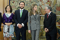Princess Letizia of Spain with the Spanish Federation of Rare Diseases (FEDER), the Spanish Federati