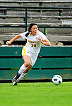 14 October 2010: University of Vermont Catamount midfielder Midori Eckenstein, a Sophomore from South Burlington, VT, in action against the University of Hartford Hawks at Centennial Field in Burlington, Vermont. The Hawks defeated the Lady Cats 6-2 in America East play. Mandatory Credit: Ed Wolfstein Photo