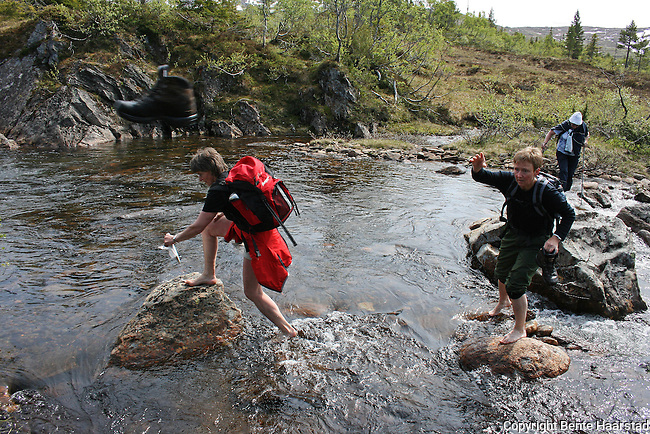 Galaaen leder an over elva (østre tverrsona?). foto: bente haarstad