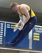 The University of Michigan men's gymnastics Maize team beat the Blue team (330.200-328.800) in the intrasquad meet at Cliff Keen arena in Ann Arbor, Mich., on December 7, 2012.