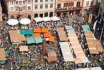 Mainzer Wochenmarkt aus der Vogelperspektive<br />