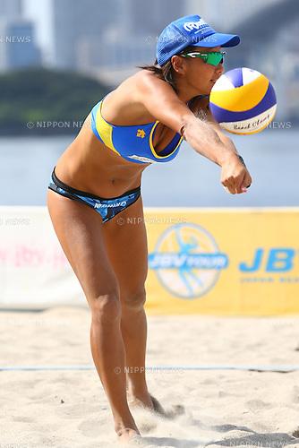 Shinako Tanaka,<br /> SEPTEMBER 21, 2015 - Beach Volleyball : <br /> JBV Tour 2015 Tokyo Open<br /> Women's Final<br /> at Odaiba Beach, Tokyo, Japan.<br /> (Photo by Shingo Ito/AFLO SPORT)