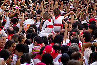San Fermín festival on the main square of Pamplona, Spain, 6 July 2005.