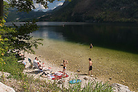 Bad Aussee, Ausseerland, Steiermark, Styria, Austria, September 2008. Lake Grundl is a good place for swimming and bathing, or just relaxing on the shore.The province of Styria is known for its green alpine landscape, good food and many lakes. Photo by Frits Meyst/Adventure4ever.com