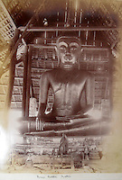 BNPS.co.uk (01202 558833)<br /> Pic: 25BlytheRoad/BNPS<br /> <br /> Huge bronze Buddha in Ayutthaya the ancient capital of Siam.<br /> <br /> Stunning 125 year-old pictures of Thailand which showcase the tropical paradise long before it became a tourist hot-spot have emerged.<br /> <br /> The collection of photographs from the early 1890s include images of the King's birthday celebrations in 1892, the King's palace and the Bangkok architecture.<br /> <br /> Also included in the collection are photographs of Hong Kong under British crown rule in 1895 including of British seamen, the Hong Kong cricket team and the native army.<br /> <br /> The photo album will go under the hammer on January 25 and is tipped to sell for &pound;1,500.<br /> <br /> The owner of the album is believed to have been a member of the Royal Engineers or connected with them.<br /> <br /> The fascinating photos provide a snapshot of Thailand under the rule of King Chulalongkorn.<br /> <br /> He was the first Siamese king to have a full western education, having been taught by British governess Anna Leonowens whose memoirs were transported to the silver screen in the famous film The King and I.