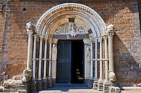 Romanesque main portal of the Basilica Church of Santa Maria Maggiore, Tuscania