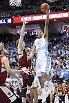 18 January 2014: North Carolina's Marcus Paige (5) and Boston College's Patrick Heckmann (33). The University of North Carolina Tar Heels played the Boston College Eagles in an NCAA Division I Men's basketball game at the Dean E. Smith Center in Chapel Hill, North Carolina. UNC won the game 82-71.