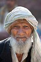 Indian man in Old Delhi at Daryagang market, India