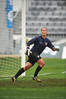 US goalie Jill Loyden at the 2010 Algarve Cup