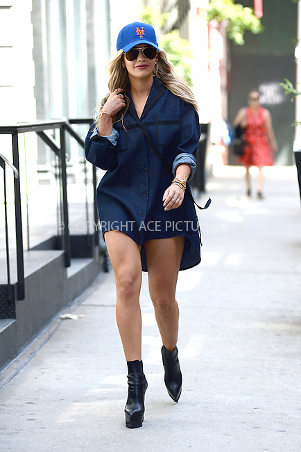 www.acepixs.com<br /> July 26, 2016 New York City<br /> <br /> Rita Ora was seen in Tribeca in New York City on July 26, 2016.<br /> <br /> Credit: Kristin Callahan/ACE Pictures<br /> <br /> tel: 646 769 0430<br /> Email: info@acepixs.com