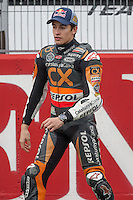 Marc Marquez in the start lane for his presentation of Moto GP pilot 2013