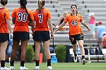 16 May 2015: Princeton's Anya Gersoff (45). The Duke University Blue Devils hosted the Princeton University Tigers at Koskinen Stadium in Durham, North Carolina in a 2015 NCAA Division I Women's Lacrosse Tournament quarterfinal match. Duke won the game 7-3.