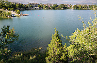 Quarry Lake - Austin's best open-water swimming training & water sports - Stock Photo, Image Gallery