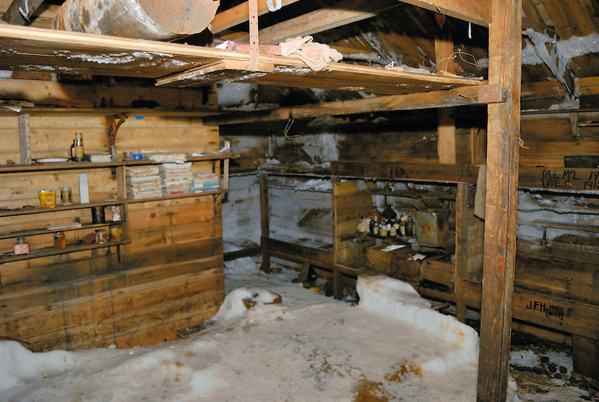 Mawson Hut I - Abandonded in 1914 and only recently finished being conserved in 2009
