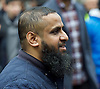 Far right activists protesting outside Regent's Park Mosque in Central London, Great Britain <br />