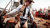 Dodge City, Kansas, USA, August 2011:.Rodeo, a popular sport in the Midwest, where a large percentage of population is raising cattle and working in beef industry. On Sunday evening this is the largest event..(Photo by Piotr Malecki / Napo Images)..Dodge City, Kansas, Stany Zjednoczone, Sierpien 2011:.Rodeo, popularny sport na Srodkowym Zachodzie, gdzie duza czesc mieszkancow zajmuje sie hodowla bydla lub pracuje w przemysle miesnym..Fot: Piotr Malecki / Napo Images.