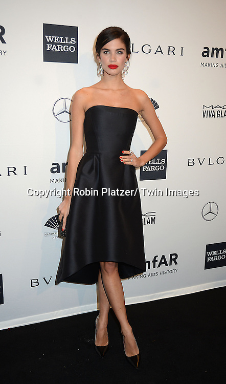 Sara Sampaio attends the amfAR New York Gala on February 5, 2014 at Cipriani Wall Street in New York City.