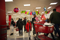 Shoppers in a Target store in  New York on Sunday, November 18, 2012 on the weekend prior to Thanksgiving and Black Friday. (© Richard B. Levine)