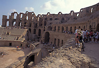 Tunisia, El Jem, antico anfiteatro romano.<br /> Tunisia, El Jem, Roman amphitheater.