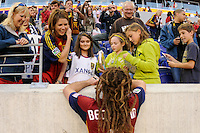 Kyle Beckerman (5) of Real Salt Lake signs autographs after the game. The New York Red Bulls and Real Salt Lake played to a 0-0 tie during a Major League Soccer (MLS) match at Red Bull Arena in Harrison, NJ, on October 09, 2010.