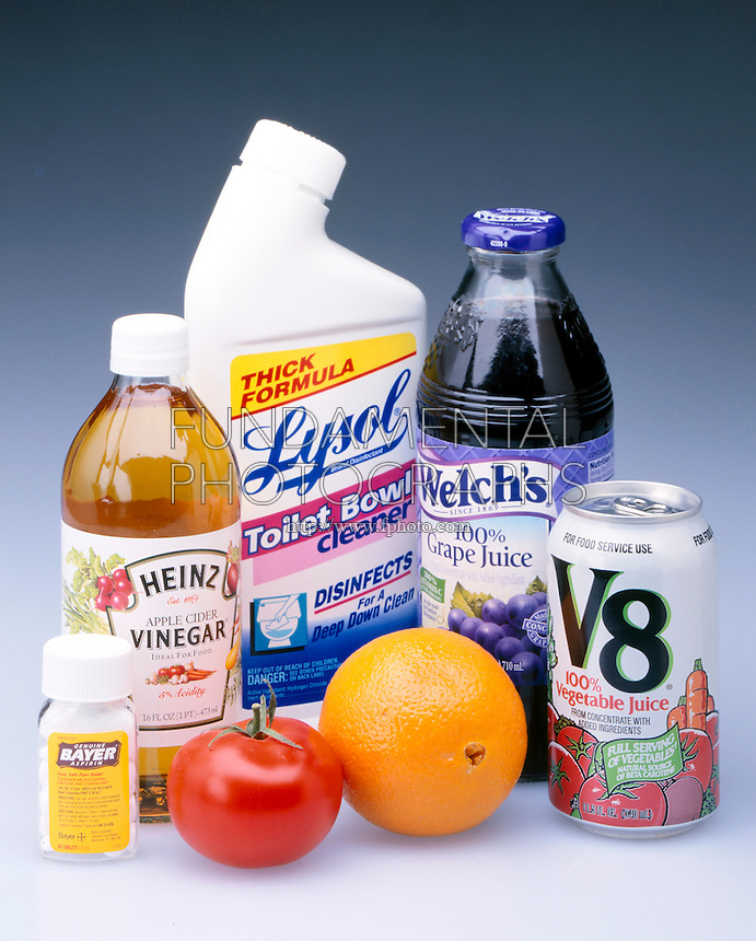 ACIDS IN COMMON HOUSEHOLD PRODUCTS<br /> An Acid Is A Water Soluble, SourTasting Compound<br /> It is a substance that dissociates a H+ ion &amp; increases the concentration of H+ ions in aq. solutions.  It is considered a proton donor. Common properties are prickling sensation produced on skin &amp; ability to dissolve metals &amp; carbonate minerals