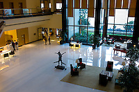 Lobby and Reception area with piano in the 5-star Oberoi Mumbai Hotel at Nariman Point, Mumbai, Bombay, Maharashtra, India