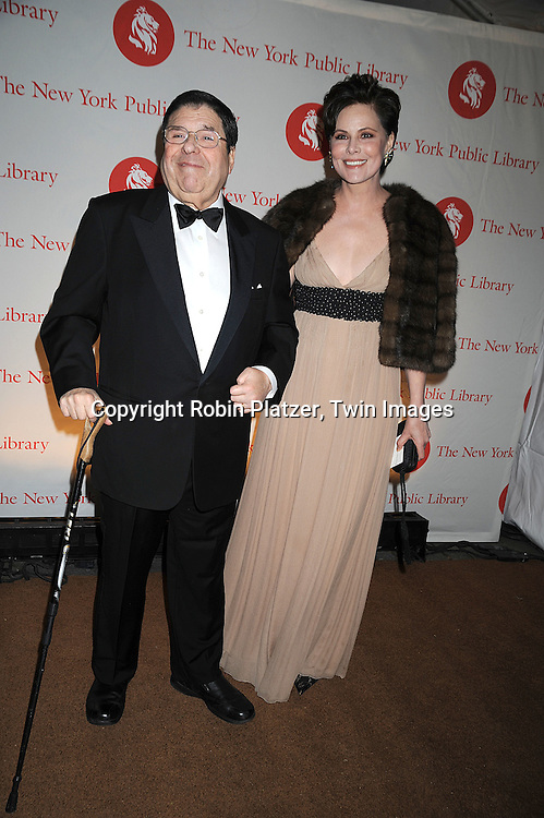Saul Steinberg and wife Gayfried Steinberg..arriving at The New York Public Library 2008 Library Lions Benefit Gala on November 3, 2008 at The New York Public Library at 42nd Street and 5th Avenue.....Robin Platzer, Twin Images