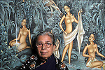 Mahasweta Devi, Indian write, November 19, 2002 in Paris, France.