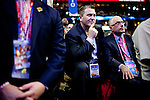 Michigan delegates listen to Condoleeza Rice at the Republican National Convention in Tampa, Florida, August 29, 2012.