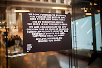 "The new Nike store in Soho in New York sees its opening delayed due to unspecified ""permitting issues"", seen on Sunday, November 13, 2016. (© Richard B. Levine)"