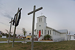 Everglades City, Florida: April 4, 2009.  The Everglades Community Church in Everglades City, Florida was established in 1926.  The Everglades National Park Gulf Coast Visitor Center lies in Everglades City.