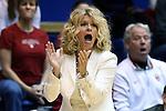 17 December 2014: Oklahoma head coach Sherri Coale. The Duke University Blue Devils hosted the University of Oklahoma Sooners at Cameron Indoor Stadium in Durham, North Carolina in a 2014-15 NCAA Division I Women's Basketball game. Duke won the game 92-72.