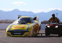 Feb 26, 2017; Chandler, AZ, USA; NHRA funny car driver Matt Hagan during the Arizona Nationals at Wild Horse Pass Motorsports Park. Mandatory Credit: Mark J. Rebilas-USA TODAY Sports