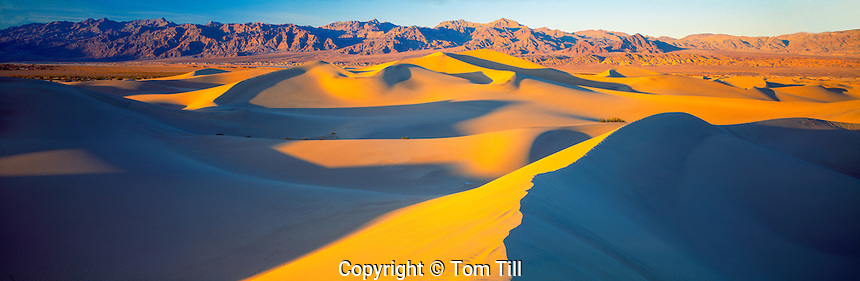 Mesquite Flat Dunes panorama, Death Valley National Park, California