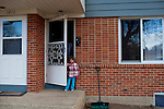 """Kendrick Brinson.LUCEO..Sloan Olson plays outside her family's apartment in January in oil boom-town Williston, North Dakota. Her grandmother Peggy Adrin said the town has """"really changed a lot"""" since she first moved there 30 years ago. """"When we first moved here, there was nothing,"""" she said. Williston, North Dakota is currently experiencing an influx of people relocating there for the town's third oil boom...Model Released: Yes.Assigning Editor: Michael Wichita."""