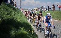 Philippe Gilbert (BEL/Quick Step floors) escorted through the Holleweg by teammate Julien Vermote (BEL/QuickStep Floors)<br /> <br /> 101th Ronde Van Vlaanderen 2017 (1.UWT)<br /> 1day race: Antwerp &rsaquo; Oudenaarde - BEL (260km)