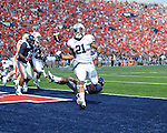 Ole Miss vs. Auburn running back Tre Mason (21) scores a touchdown at Vaught-Hemingway Stadium in Oxford, Miss. on Saturday, October 13, 2012. (AP Photo/Oxford Eagle, Bruce Newman)..