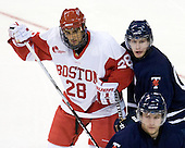 Sahir Gill (BU - 28), Jeff Zippel (Toronto - 15) - The Boston University Terriers defeated the visiting University of Toronto Varsity Blues 9-3 on Saturday, October 2, 2010, at Agganis Arena in Boston, MA.