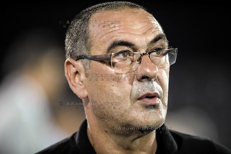 Sarri Maurizio (Pescara) during the Italian Serie A football match Pescara vs SSC Napoli on August 21, 2016, in Pescara, Italy. Photo by Adamo Di Loreto