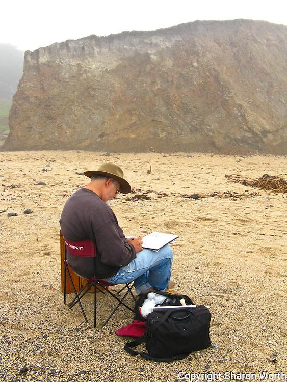 Edwin Bertolet (www.ebertolet.com) sketches before painting.