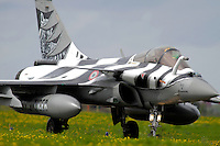 French Dassault Rafale with tiger stripes. Nato Tiger Meet is an annual gathering of squadrons using the tiger as their mascot. While originally mostly a social event it is now a full military exercise. Tiger Meet 2012 was held at the Norwegian air base Ørlandet.