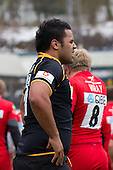 Billy Vunipola of London Wasps RFC scorer of the hosts first try - London Wasps RFC vs Saracens RFC - Aviva Premiership Rugby at Adams Park, Wycombe Wanderers FC - 12/02/12 - MANDATORY CREDIT: Ray Lawrence/TGSPHOTO - Self billing applies where appropriate - 0845 094 6026 - contact@tgsphoto.co.uk - NO UNPAID USE.