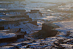 View from the Green River Overlook in winter in the Island in the Sky district in Canyonlands National Park, Utah, United States of America