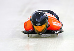 17 December 2010: Joska Le Conte sliding for the Netherlands, finishes in 20th place at the Viessmann FIBT Skeleton World Cup Championships in Lake Placid, New York, USA. Mandatory Credit: Ed Wolfstein Photo