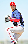 1 March 2010: Washington Nationals' starting pitcher J.D. Martin on the mound during Spring Training at the Carl Barger Baseball Complex in Viera, Florida. Mandatory Credit: Ed Wolfstein Photo